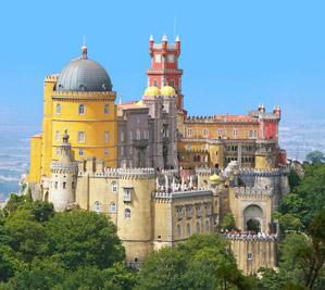 Sintra, view of Pena National Palace