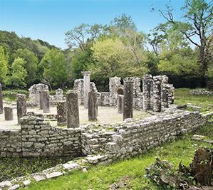 The Roman ruins of Butrint