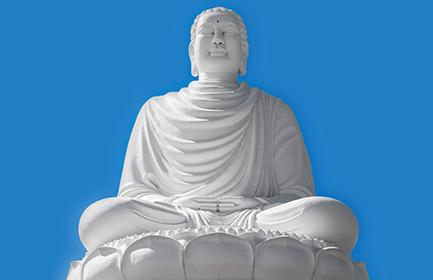 In contemplation of the majestic white Buddha