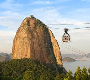 A cable car ride to Sugar Loaf mountain