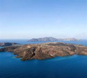 Nea Kameni and the caldera