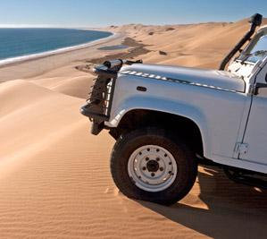 Jeep tour on sand dunes