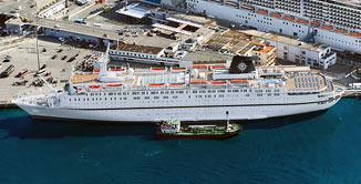 MSC announces its entry into the cruise business, purchasing the iconic liner Monterey.