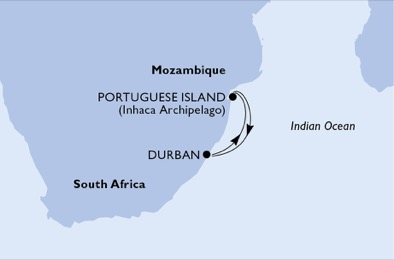 South Africa, Mozambique